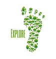 Environmental protection and nature explore poster vector image