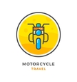 Motorcycle travel concept vector image