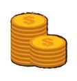 coins stack money sketch vector image