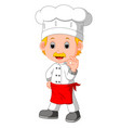 cartoon funny chef good posing vector image