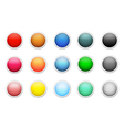 Set of colored round buttons vector image