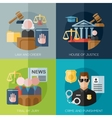 crime punishment law and order social vector image