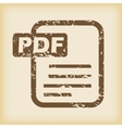 Grungy pdf file icon vector image