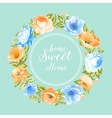 Flower garland for invitation card vector image vector image