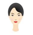 beautiful girl face vector image