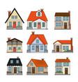 beautiful house set vector image
