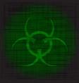 bio hazard grunge vector image
