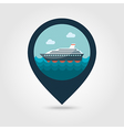 Cruise liner pin map icon Summer Vacation vector image