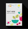 eco geometric flat design background template vector image