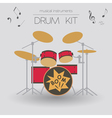 Musical instruments graphic template Drumkit vector image