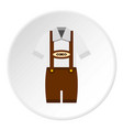Traditional bavarian men suit icon circle vector image