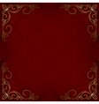 dark red card with pattern vector image