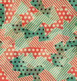 vintage cloth geometric seamless texture vector image