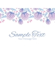 soft purple flowers horizontal border vector image