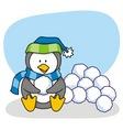 little penguin 3 vector image vector image