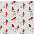 Winter Birds Retro Background vector image vector image