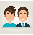 cartoon men business isolated vector image
