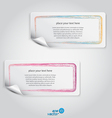 colorful label vector image