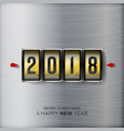 happy new year 2018 abstract holiday vector image