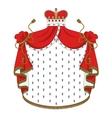 Heraldic royal mantle vector image