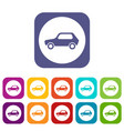 only motor vehicles allowed road sign icons set vector image