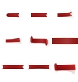 Red festive realistic Ribbons Set vector image