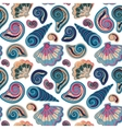 Seamless pattern with shells Summer vector image