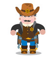 sheriff a man in a suit of law enforcement bodies vector image