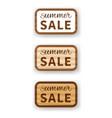 summer sale wooden billboard vector image