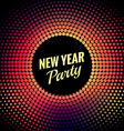 happy new year party greeting vector image