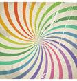 Vintage color spiral background with blots vector image vector image