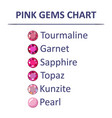 gems pink color chart vector image