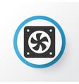 cpu fan icon symbol premium quality isolated vector image