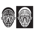 tribal face art vector image vector image