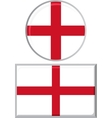 English round and square icon flag vector image