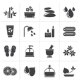 Black Spa and relax objects icons vector image vector image