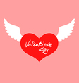 wings heart color vector image vector image