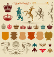 Heraldry design elements vector image vector image