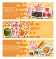Set of Horizontal Banners about Beach vector image