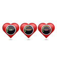 High blood pressure digital set vector image