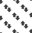up and down arrow seamless pattern vector image