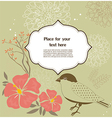 Floral greeting card with birds vector image vector image