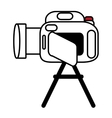 pictogram camcorder video film tripod design vector image