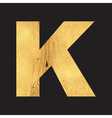 Uppercase letter K of the English alphabet vector image vector image