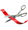 Scissors Cutting Ribbon vector image vector image