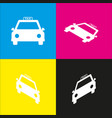 taxi sign   white icon with vector image
