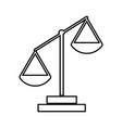 law scale black color icon vector image