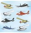 Set of vintage retro aeronautics flight badges vector image