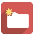 New Folder Flat Rounded Square Icon with Long vector image