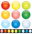 Set of Blank Glass Badges vector image